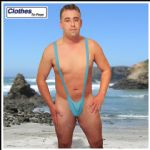 Azzure Blue Mankini Thong
